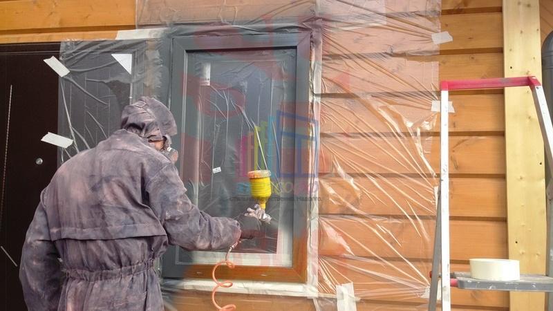 Окраска пластиковых окон